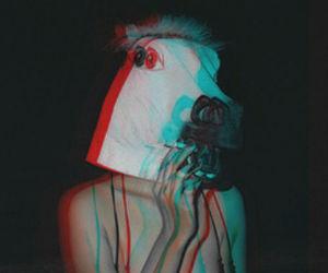 grunge, horse, and smoke image