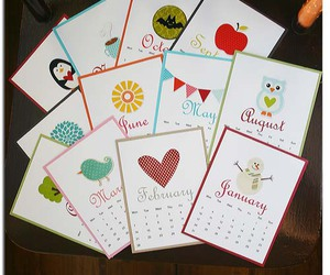 calender, cards, and colorful image