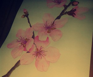 draw, flower, and painting image