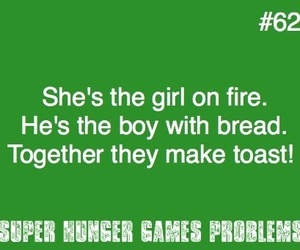 funny, smile, and hunger games image