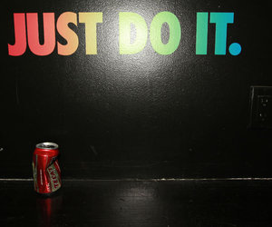 black, can, and Just Do It image
