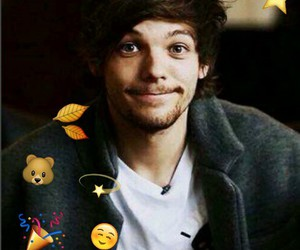 louistomlinson, onedirection, and smailе image