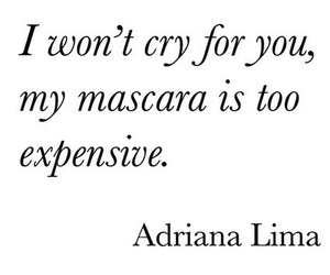 mascara, quote, and cry image