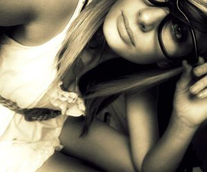 glasses and sepia image