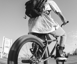 backpack, bmx, and rider image