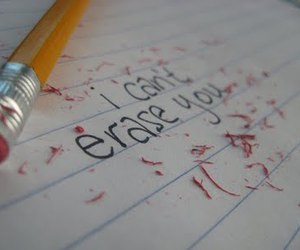 love, erase, and text image