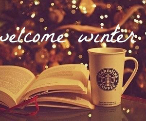 winter, book, and starbucks image