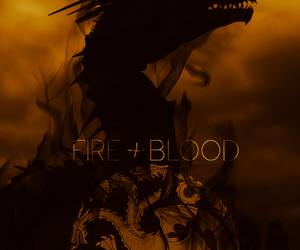 dragons, targaryen, and fire and blood image