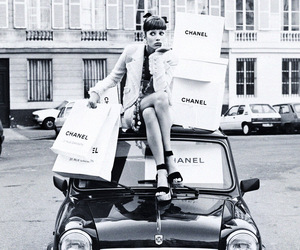 black and white, chanel, and car image
