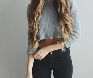 fashion, girl, and hair image