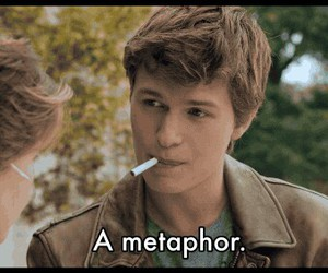 metaphor, augustus waters, and tfios image