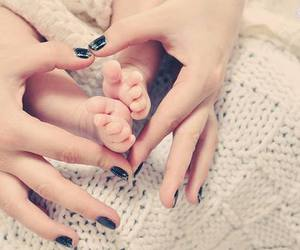 baby, nail polish, and feet image