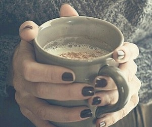 coffee, winter, and nails image