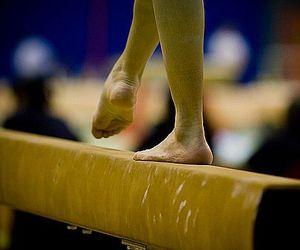 gymnastics, balance beam, and beam image