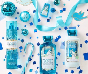 bath and body works, blue, and winter image