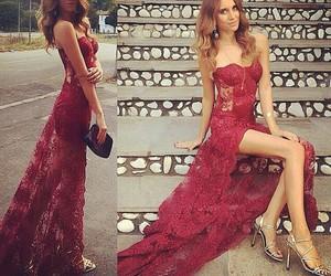 prom dresses, long prom dress, and dress image