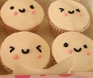 cupcake, food, and smile image