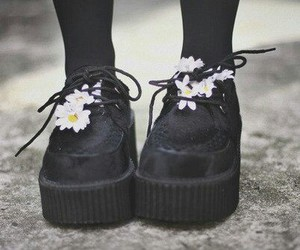 shoes, flowers, and creepers image