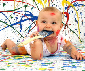 baby, child, and paint image