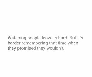 leave, promise, and sad image