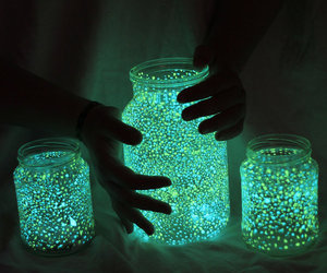 art, beautiful, and fireflies image