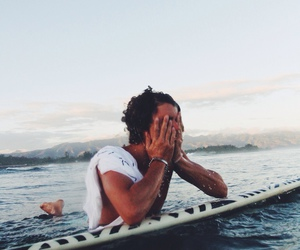 boy, surf, and summer image