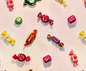 art, candy, and foodie image