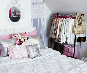 interior design, girly, and pillow image