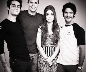 black and white, scoot mccall, and teen wolf image
