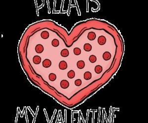 pizza, love, and valentine image