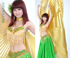 beautiful, green., and bellydance image