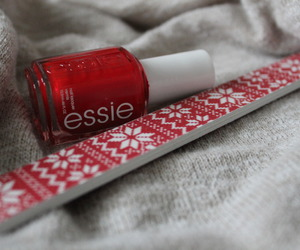 nails, essie, and christmas image