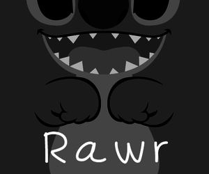 black and white, rawr, and stich image