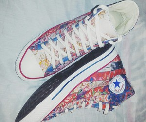 all star, converse, and floral image