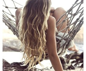 beach, blond, and hair image