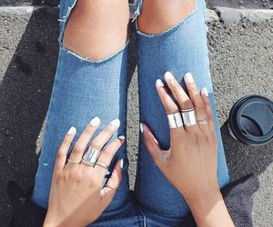fashion, jeans, and jewelry image