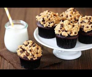cupcake, chocolate, and cookie image