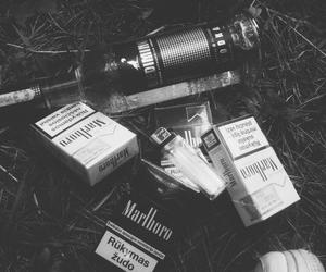 alcohol, cigarette, and smoke image