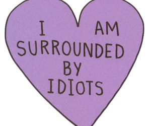 idiot, heart, and quotes image