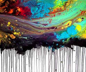 art, paint, and color image