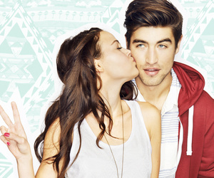 aztec, couple, and kisses image