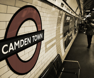 train, camden town, and london image