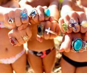 girl, rings, and summer image