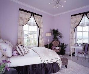 bedroom and purple image