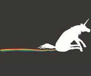 unicorn, rainbow, and funny image