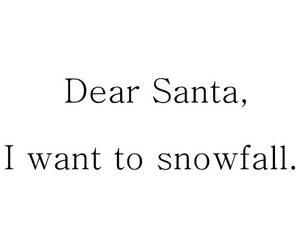christmas, santa, and snowfall image