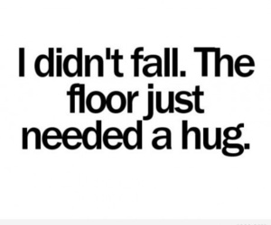 hug, floor, and fall image