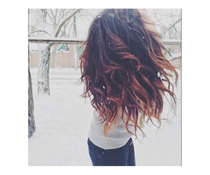 beauty, brunette, and curly hair image