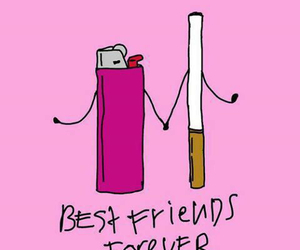cigarette, forever, and bestfriends image