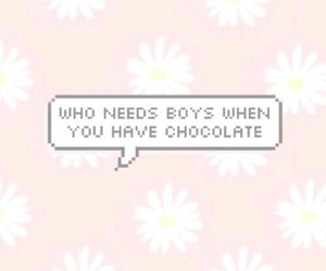 chocolate, life, and quotes image